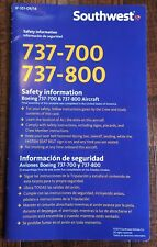 Southwest Airlines B737-700/800 Safety Card 2014 Edition Bilingual
