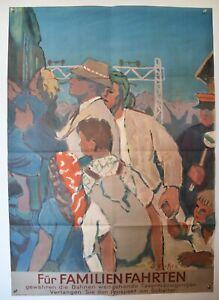 Original Vintage Poster - Swiss Railway - 1948 - (35 x 50 inches)