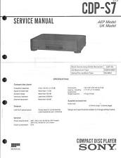 Sony Original Service Manual für CDP-S 7
