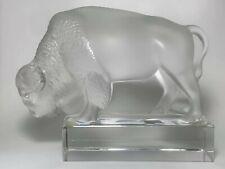Signed Lalique Crystal Bison