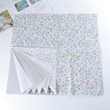 7x tela artesanal algodón floral patchwork DIY costura scrapbooking acolchado
