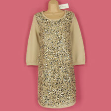 BNWT GORGEOUS DETAILED 3/4 SLEEVE SHIMMER PARTY, GOING OUT JUMPER DRESS SIZE 12