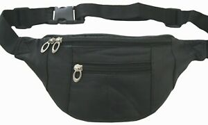 Joggers Leather Color Fanny Pack Waist Belt Bag Purse Hip Small Travel Pouch