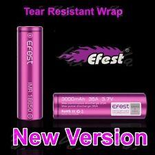 2 New Skin Efest Imr 18650 35A Rechargeable Li-Mn Battery 3000mAh w/ free case