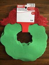 "Creatology Christmas Foam Wreath Shapes Craft 4pc 8""x7"" New"