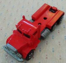 Hot Wheels 1979 6-Wheel Red Peterbilt Truck Tractor Semi Trailer Hauler Die-cast