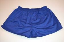 RETRO BLUE POLYESTER CASUAL GYM SPRINTER SHORTS SIZE LARGE MENS