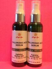 2*2oz. Hyaluronic Acid Serum Face Eyes Vitamin E, Vitamin A Retinol, Argireline