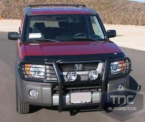 2003-2008 Honda Element Grill Brush Guard Black Powder Coat