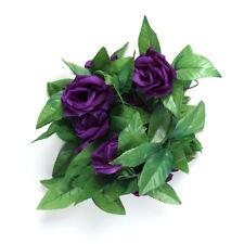 2.45m Long Silk Rose Flower Ivy Vine Leaf Garland Wedding Party Home Decors Ca