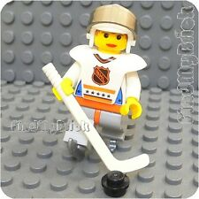 M239 Lego White Term Frozen Lake Ice Skate Hockey Player #4 Riley Minifigure NEW