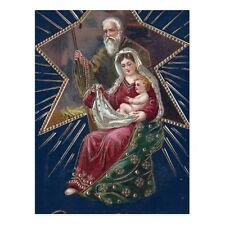 """""""Christmas-""""Baby Jesus and Mary"""" /Holding Small Blanket/ {Postcard} (V-38)"""