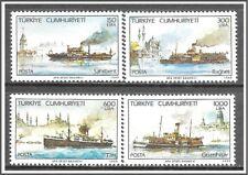 Turkey #2442-2445 Steamships Complete Set MH