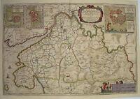 Dithmarschen Heide Lunden Tönning  Meyer Husum Landkarte alter Kupferstich 1648