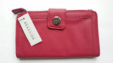 Kenneth Cole Reaction Signature Checkbook Pocket Wallet,Razzle Raspberry NWT/$50