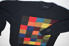 Carlo Colucci suéter sudadera soga Knit Sweater vintage funky squares 50 L