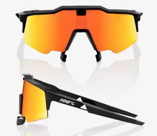 100% Percent Speedcraft Air Sunglasses Soft Tact Black - HiPER Red Mirror Lens