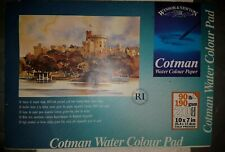 Windsor & Newton Cotman  Water Colour Pad 90 lbs / 190 gsm unused paper paint