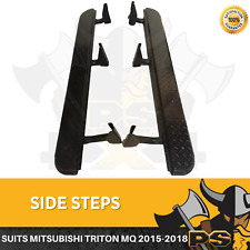 Steel Side Steps Rock Sliders to suit Mitsubishi Triton MQ 2015-2018