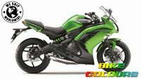 3 STAGE KAWASAKI TOUCH UP PAINT KIT Z1000SX ER6n ER6f CANDY LIME GREEN TYPE 3