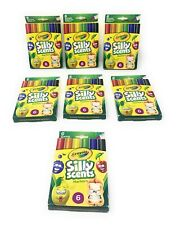 Crayola Scented Silly Scents Chisel Tip Markers 6-Pack - Lot of 7