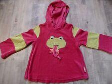 TOFF TOGS schönes Nicki Kapuzenshirt Frosch m Zunge pink grün Gr. 110 TOP ST817