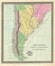 1833 Burr Map of Chile and Patagonia (Argentina)