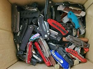 Wholesale Lot of Pocket Folding Knives Grab Bag Gerber Buck MTECH Boker SOG 2lbs