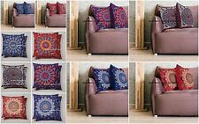10 PC Wholesale Lot Mandala Cushion Cover Pillow Case Throw Indian Print Decor