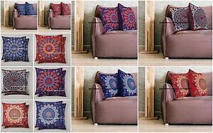 10 PC Wholesale Lot Mandala Cushion Cover Pillow Case Throw Indian Print Decor