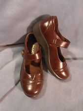 Women's Ingaro Brown Leather Mary Jane Shoes Size 6 1/2 M