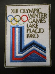 XII Olympic Winter Games Lake Placid 1980 Patch Size 2.5 x 3.25 Inches