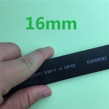 1 Meter/lot 2:1 Black 16mm Heat Shrink Heatshrink Tube Sleeving Wrap Wire L65