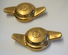 Pair Vintage MG Knock On Off Brass Hub Wheel Caps Spinners Left &  Right