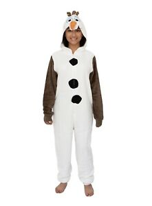 Frozen Olaf Women's Union Suit 3XL 4XL Pajamas Plus Hoodie Plush Deluxe New