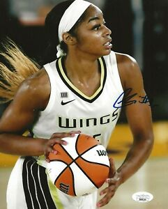 Charli Collier Texas signed Dallas Wings 8x10 photo autographed JSA
