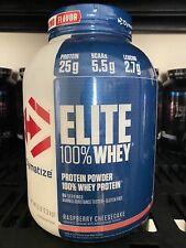 Dymatize Elite 100% Whey Protein Powder Rich Raspberry Cheesecake Exp. 12/20