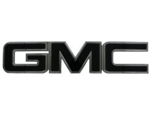 GMC BLACKOUT Emblem Badge Overlay Vinyl Sheets Decal Sticker Wrap U-Cut Trim