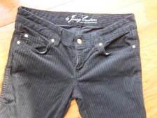 Juicy Couture Women's Jeans Size 28x33 Black Cotton striped Velour stretch