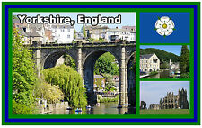 YORKSHIRE, ENGLAND UK - SOUVENIR NOVELTY FRIDGE MAGNET - BRAND NEW - GIFT
