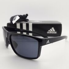 d89dff19ae3 NEW ADIDAS Sunglasses WHIPSTART Shiny Black Grey AUTHENTIC a423 00 6050  00 00