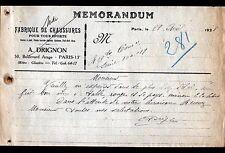 """PARIS (XIII°) USINE de CHAUSSURES de SPORT """"A. DRIGNON"""" en 1929"""