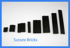 Lego Technic - 33x Assorted Black Cross Axle Rod Sizes 2,3,4,5,6,8,10 and 12