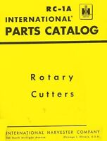 International 2C-F25 34-F25 U-F25 2CK-FTC26 Rotary Cutter Parts Catalog Manual