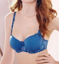 SIMONE PERELE Andora 3D Contour Bra 10G / 32G Sz 1 bikini Denim Blue Rp $130