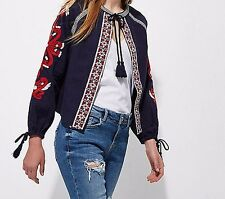 River Island LIMITED EDITION , Embroidered jacket , UK Size Large , RRP - £40