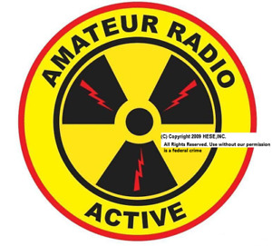 "6"" ""Amateur Radio Active"" (c) 2009 Decal for Ham radio"