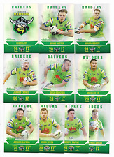 2017 NRL Traders Pearl Parallel Special RAIDERS Team Set