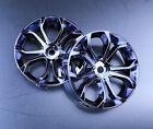 Tetsujin Wheels DEEP SPIDER Inserts Adjustable Offset 3-6-9mm CHROME BLACK 4 PC