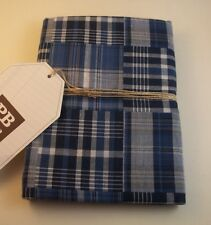 Pottery Barn Sullivan Plaid Pillow Sham Standard Blue #1170